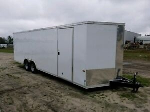 New 8 5x24 Enclosed Cargo Trailer Car Hauler With Free Upgrades 5yr Warranty