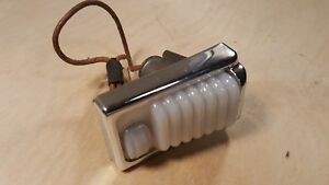 Vintage Dome Light Art Deco Style With On Off Switch 1930 s 1940 s Chevy