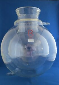 Reliance Jacketed Spherical Reaction Vessel W Conical Flange 5000ml 5l