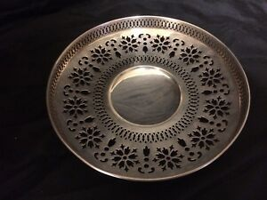 Gorham Sterling Silver A8863 Pierce Footed Cake Plate Or Tray No Monos