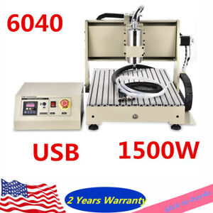 4 Axis 6040 Usb Cnc Router Engraver Machine Carve Machine 400hz 24000 Rpm Er11 a