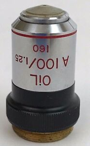 Bausch Lomb Dm100 1 25 160 oil 100x Phase Contrast Microscope Objective