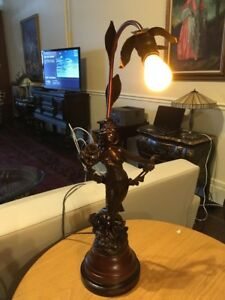 Antique French Newel Post Lamp Thiyade