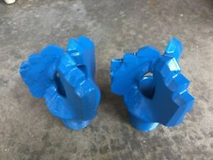 Lot Of 2 Carbide Drag Bits 4 3 4 Drag 3 Wing Water Well Drilling 0018