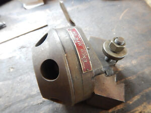 Usa Enco Metal Lathe Tailstock Turret Modified To Fit Quick Change Tool Post