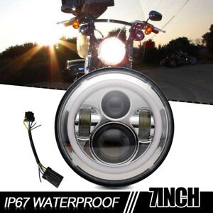 7 Motorcycle Projector Daymaker Led Bulb Headlight For Harley Davidson Touring