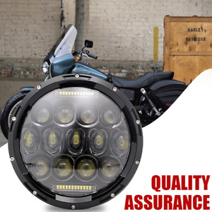1 7 Motorcycle Black Projector Hid Led Light Bulb Headlight For Harley