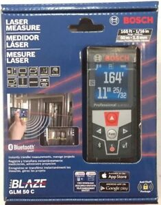 Bosch Glm 50 C Laser Digital Distance Tape Measure pointer Glm50c 165 Feet