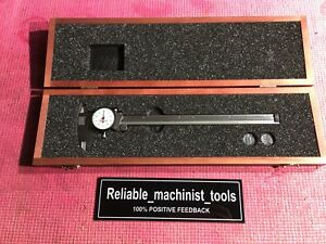 American Made Starrett 9 Inch Dial Caliper Model 120 Machinist Tools