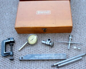 Starrett 196 Universal Dial Test Indicator Nice Tool Complete In Wood Box