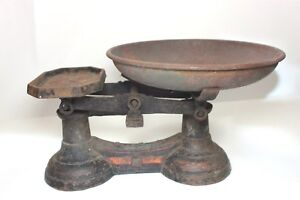 Antique American Cast Iron Balance Scale 1890s Weighing Scale To Weigh 14 Lb