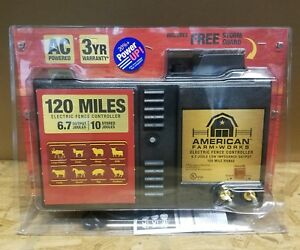 American Farm Works A c Electric Fence Controller 120 Mile Range New