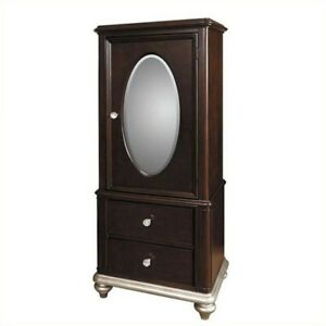 Bowery Hill Door Wardrobe In Black Cherry