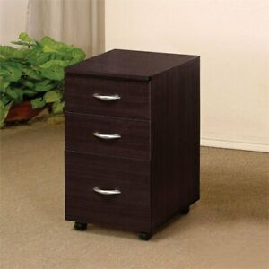 Bowery Hill 3 Drawer File Cabinet In Espresso