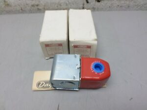 2 Dayton 6x542 Solenoid Valve Coils With Junction Box 24 Volt 50 60 Hz New
