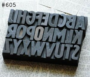 A z Alphabet Letterpress Wood Printing Blocks Wooden Type Woodtype Vintage Print