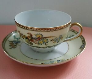 Field Japanese Hand Painted Cup And Saucer