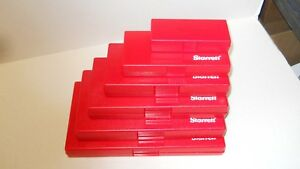 Starrett Micrometer Storage Cases 1 2 3 4 5 6 6 Cases New