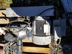 Banjo Self priming Centrifugal Pump With 3 phase Electric Motor switch cowling