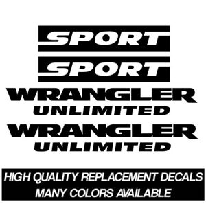 2007 2017 Jeep Wrangler Unlimited Sport Jk Replacement Decal Kit Stickers Tj