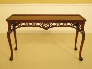 F44416ec Ardley Hall Claw Foot Mahogany Chippendale Sofa Table