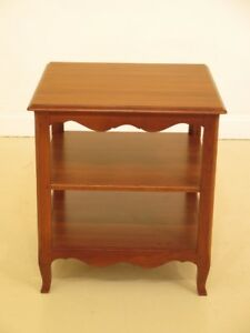 F44782ec Ethan Allen Country French Cherry Tiered End Table