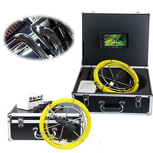 30m Sewer Waterproof Camera Pipe Pipeline Drain Video Inspection System 7 Lcd