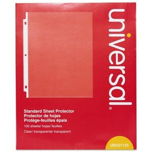 Case Of 500 Universal Top load Poly Sheet Protectors Standard Letter Clear