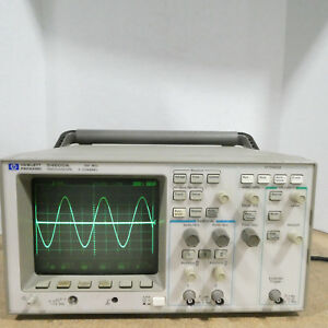 Hewlett Packard Hp 54600a 100mhz 2 Channel Oscilloscope Tested With Power Cord