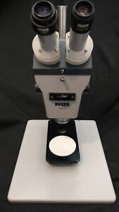 Zeiss Stereomicroscope Microscope Model Sv8 Sv 8 Focusing Block Stand 629