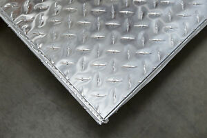 3003 Aluminum Diamond Plate Bright 25 1 4 X 48 X 120 1 Pc