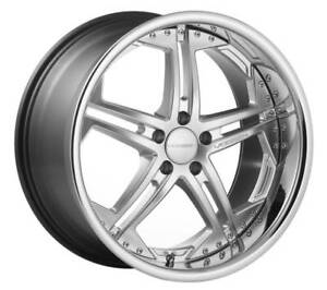 Vossen Vvs 75 Wheels 5x112 20x10 5 Et 36 set Of 4 Silver Finish