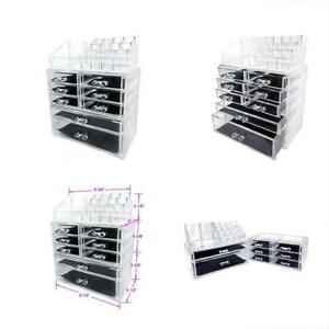 Acrylic Makeup Cosmetic Jewelry Organizer Storage Drawers Display Top Box Case