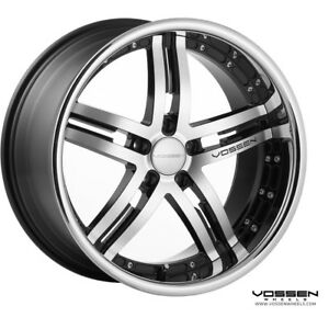 Vossen Wheels Vvs 78 Black Machine Face 20x10 5 Bolt Pattern 5x112 Et36