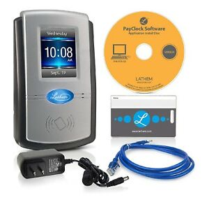 Lathem Pc600 Touch Screen Time Clock System New In Box