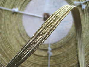 Unused Vintage Antique French Gold Metallic Trim 5 16 Military Lace