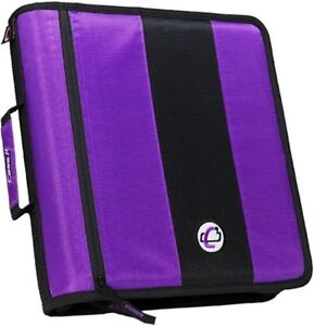 Case it 2 inch Ring Zipper Binder Purple D 251 pur