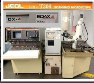 Jeol Jsm 300t Scanning Microscope System With Dx 4 Edax Comp Exax Chiller Tank