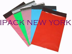 500 Mixed Color 9x12 Poly Mailers Shipping Envelope Shipping Bags 100 color