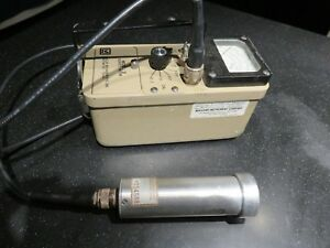 Ludlum Model 3 Radiation Detector Geiger Meter With Ludlum 44 7 Probe