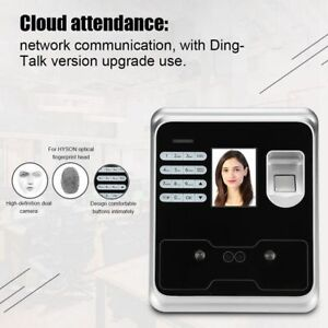 2 4 Wireless Face Fingerprint Attendance Time Clock Face Recognition Machine Js