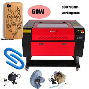 Usb Port 60w Co2 Laser Engraving Cutting Machine Laser Cutter Water Pump Red Dot