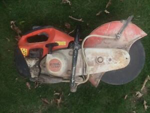 Stihl Ts 420 Gas Concrete Cutoff Saw 14 Tcranks Runs Idles All Day