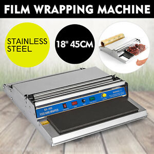 18 Food Tray Film Wrapper Wrapping Machine Sealer Supermarket Water Sealing