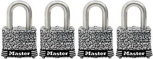 Master Lock 3sskad 1 9 16 Laminated Steel Keyed Alike Padlock Pack Of 4