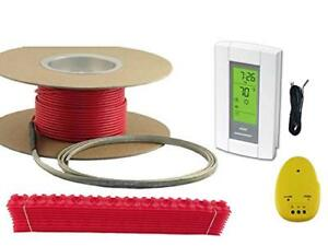10 Sqft Warming Systems 120 V Electric Tile Radiant Floor Heating Cable With