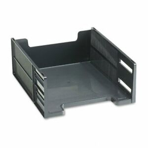 Rubbermaid Stackable High Capacity Front Load Letter Tray Polystyrene Ebony