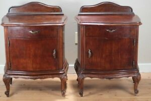 Pair Of Antique Night Stand Tables 1880 S Italian