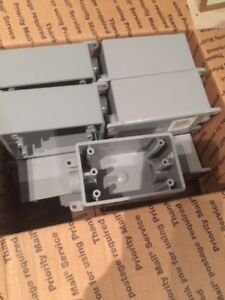 1 2 Pvc Weatherproof Outlet Boxes Carlon Fsc 2 Hub New Box Of 12