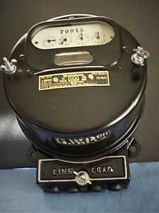1910 Westinghouse Oa Type d Meter Pristine Condition 5 Amp 100 Volts
